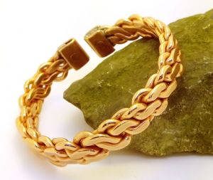 M96: Heavy Flattened Copper Knit Bracelet